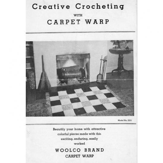 Crochet Rug Pattern (Free) and a Carpet Warp Story-woolco-leaflet-2231-crochet-rug-pattern-jpg