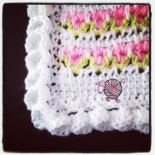 My first afghan!-crochet-flower-edging-corners-jpg
