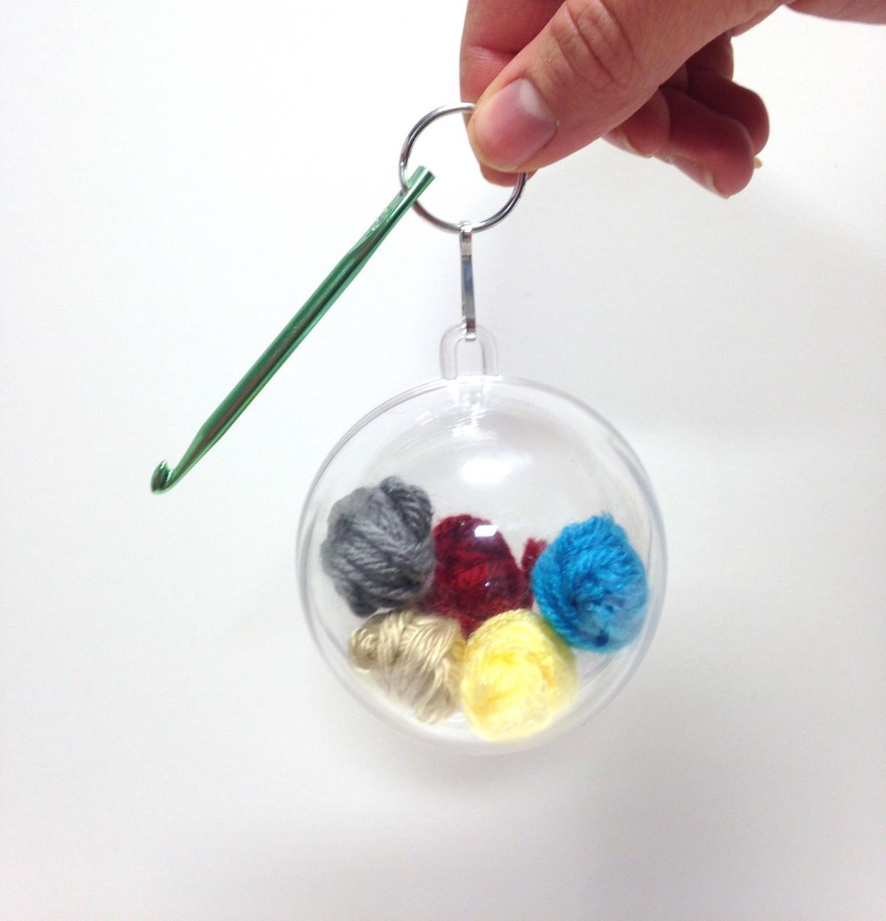 Our New Crochet Hook Key Chain Ornament Kits-roundornamentfinished-jpg