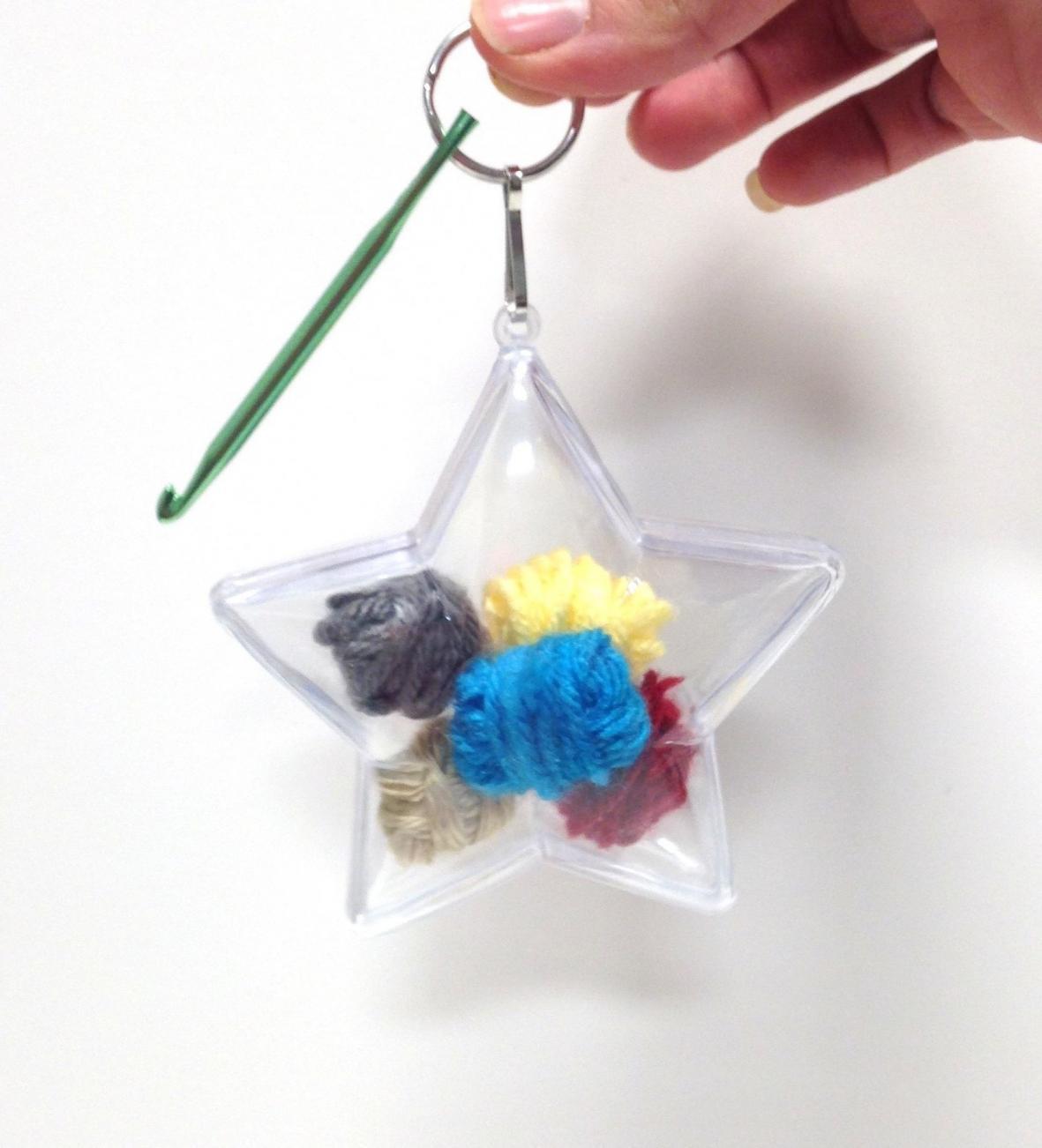 Our New Crochet Hook Key Chain Ornament Kits-starornamentwithyarn-jpg