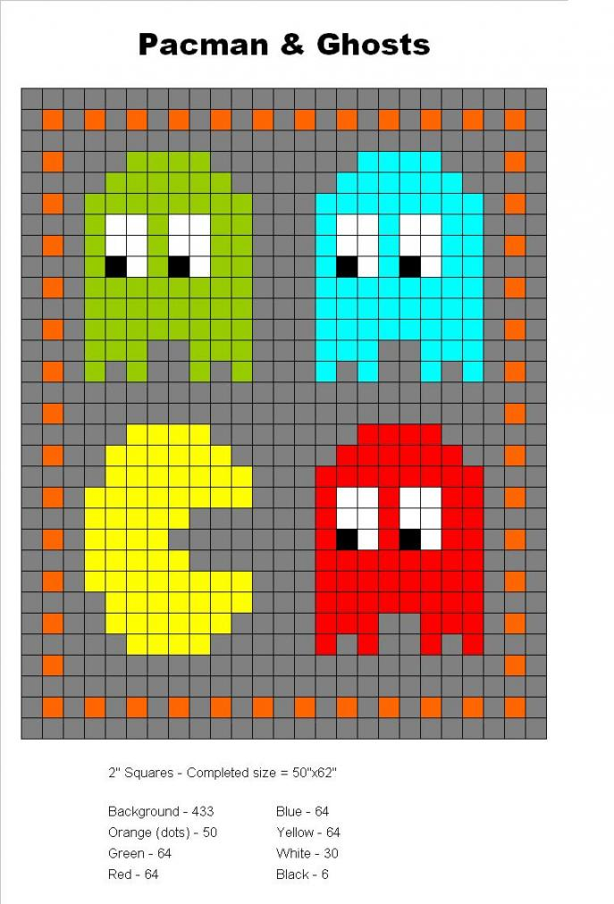 Started my first blanket/throw.-pacman-jpg