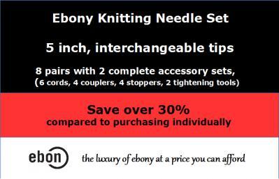 Save big on Ebony Crochet Hooks and Needle sets!-int-corr-jpg