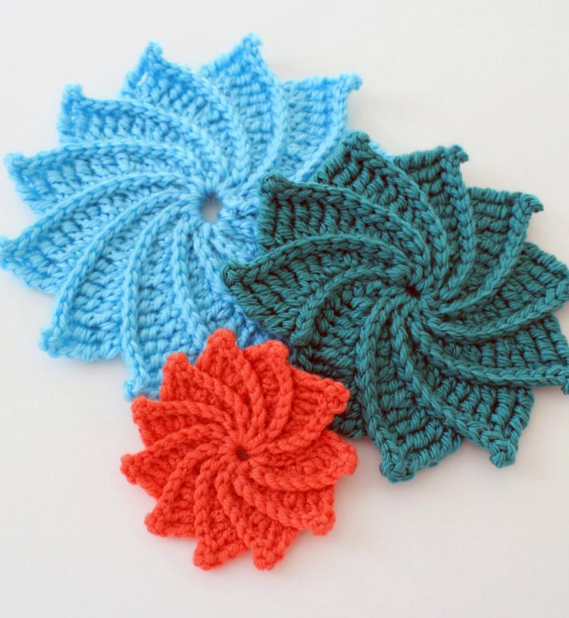 Spiral Crochet Flower (Free Pattern and Video Tutorial)-eefefe-1-jpg