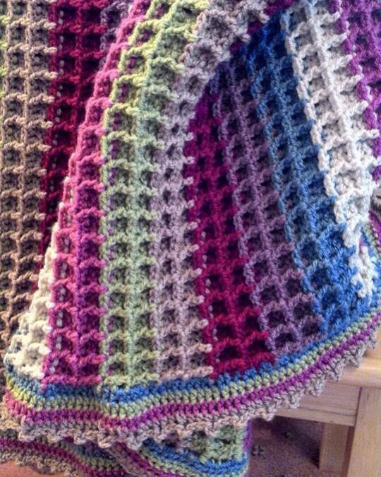 Love this stitch and the colors... Waffle Stitch Tutorial-a8aa00efa22652e3f5154127346b6e02-jpg
