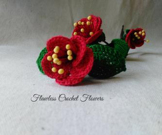 Red Cherry Blossoms Crochet Pattern-flawless-crochet-flowers-jpg