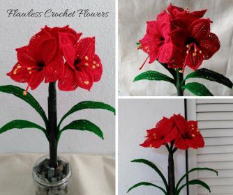 Crochet Amaryllis Flower Pattern-flawless-crochet-flowers-11-jpg