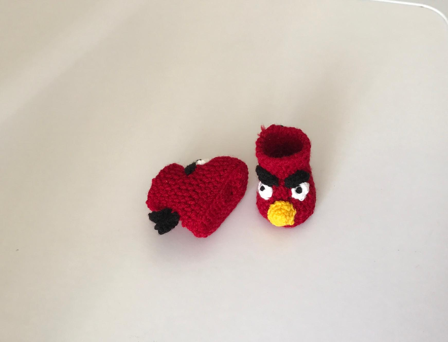 Angry Bird Baby booties.......-red-1-jpg
