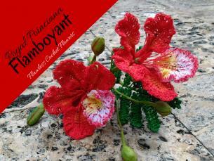 Flamboyant Royal Poinciana Crochet Flower-royal-poinciana-flamboyant-1-jpg