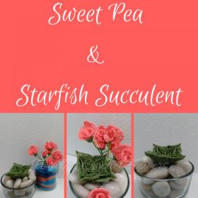 Beach Themed Terrarium: Sweet Pea Flower & Starfish Succulent-sweet-pea-starfish-succulent-1-jpg