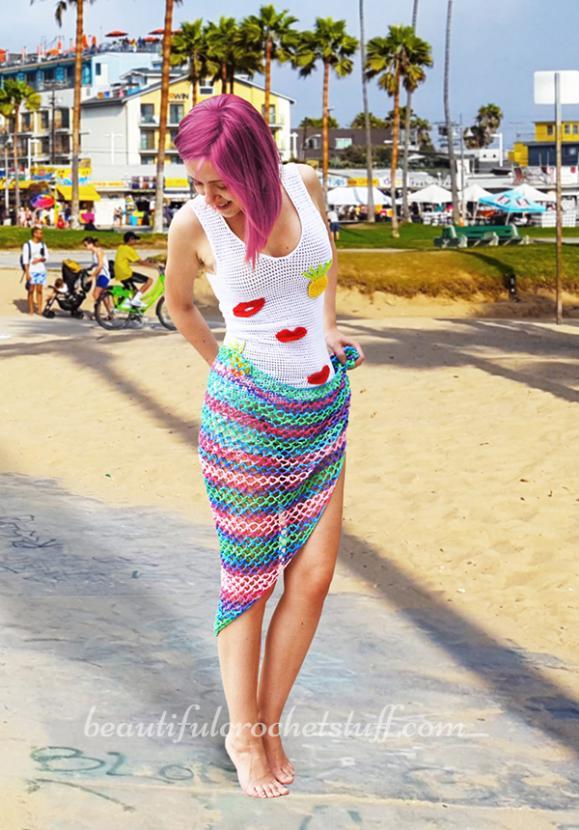 Crochet Beach Cover Up Free Pattern-crochet-beach-shawl-free-pattern-4-jpg