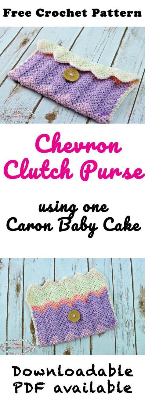 New Free Pattern Chevron Clutch Purse-chevron-clutch-purse-free-crochet-pattern-nickis-homemade-crafts-jpg