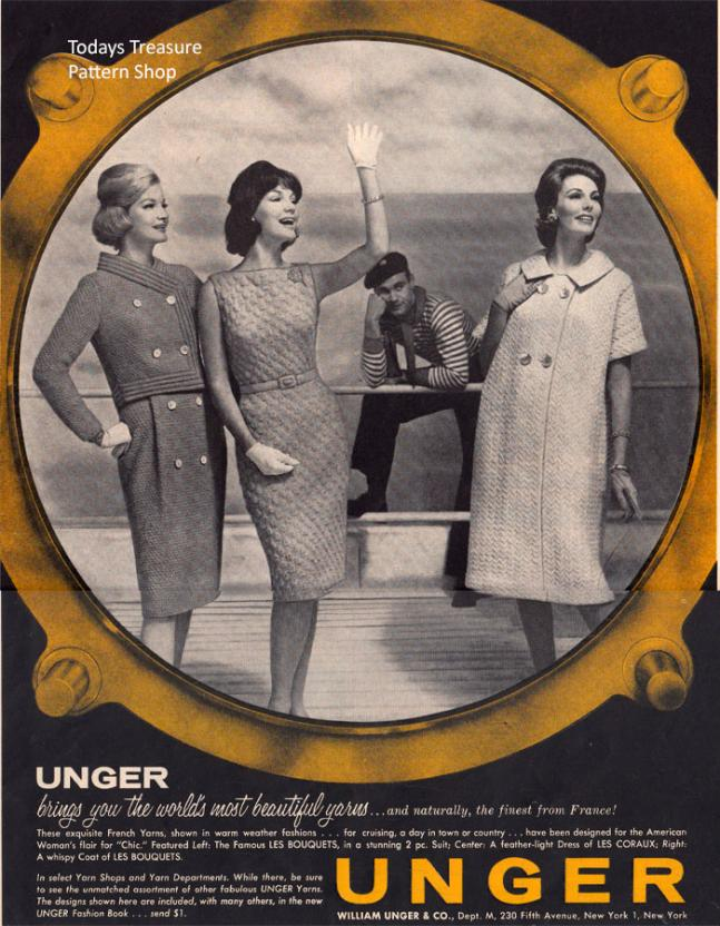 Ungers Les Bouquets Yarn-unger-yarns-1962-advertisement-jpg