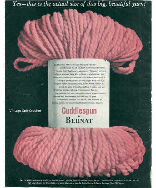 Bernat Cuddlespun Yarn-bernat-cuddlespun-yarn-1954-advertisement-jpg