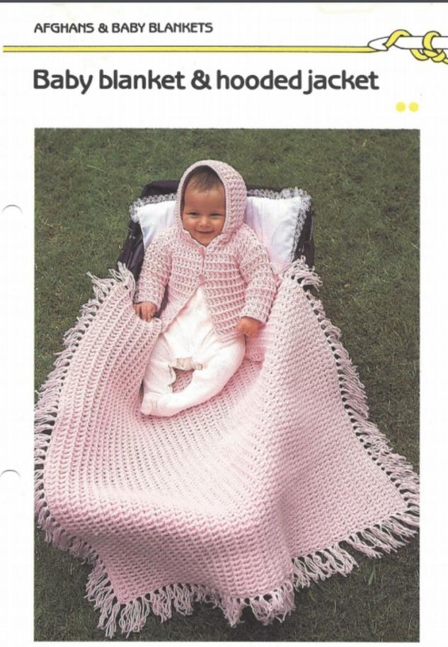 Crochet Hooded Jacket and Blanket Pattern-hood-jpg