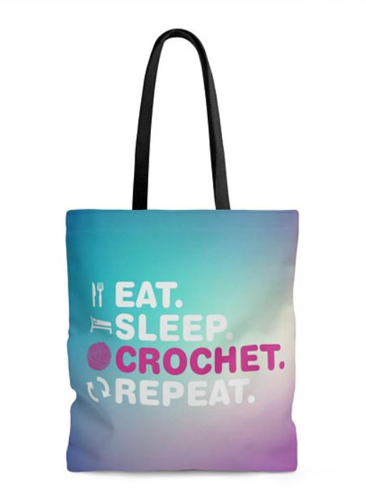 Eat Sleep Crochet Repeat Tote Bag-finals-jpg