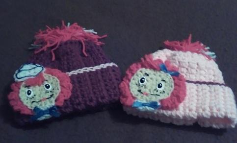 raggety ann/andy baby set-hats-jpg