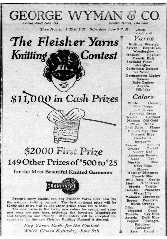 Fleishers Yarn 1923 National Knitting Contest-1923-national-knitting-contest-announcement-jpg