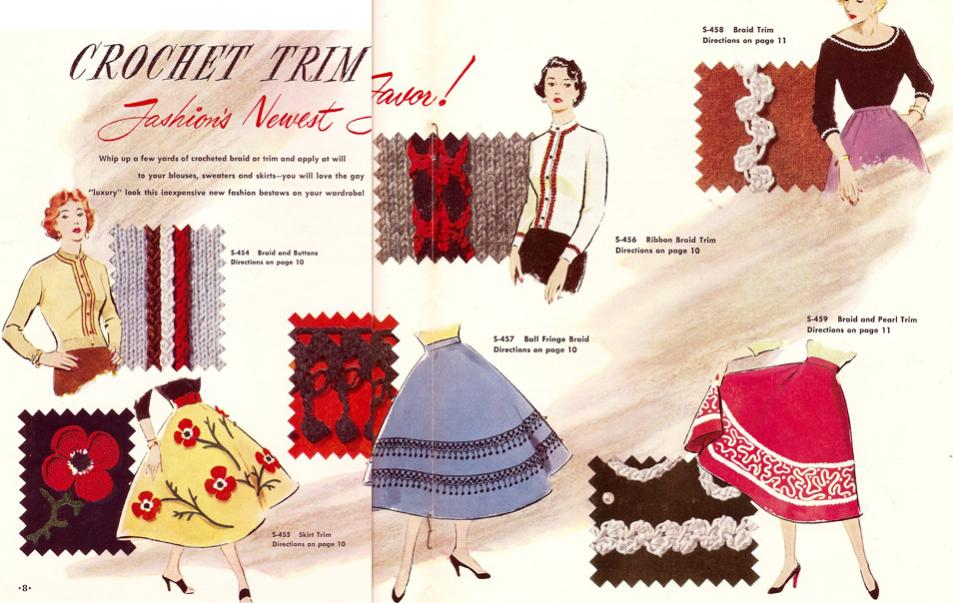 Crocheted Trim - Free Pattern Leaflet-vintage-crochet-trim-pattern-jpg