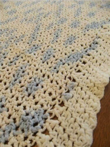 """""""LITTLE BABY""""  A very light pink, baby blue, and white.  GrannyBlankets.com-baby-blankets-jpg"""