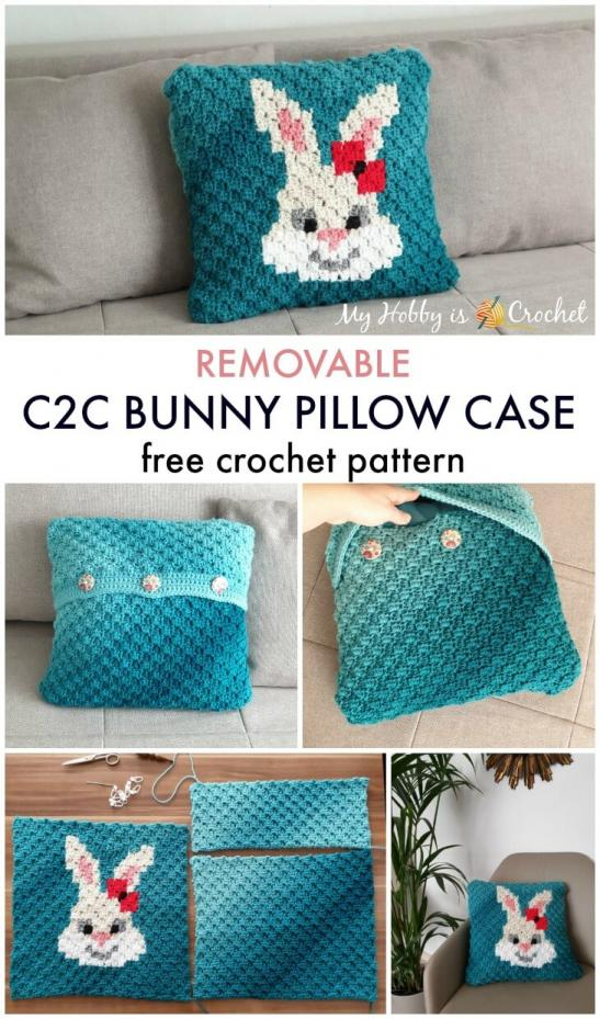 Removable C2C Bunny Pillow Case-bunny2-jpg