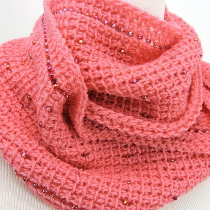 Pink Fantasy Infinity Scarf for Women-scarf-jpg