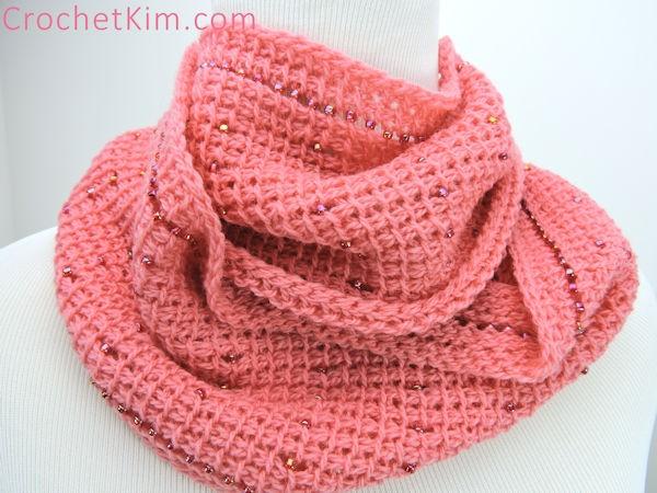 Pink Fantasy Infinity Scarf for Women-scarf2-jpg