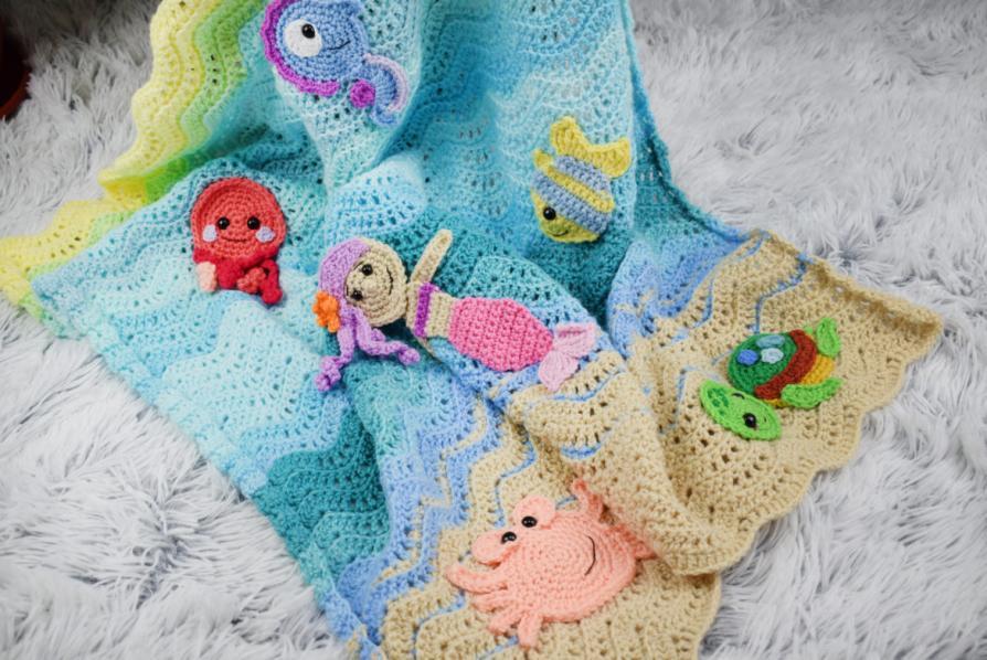 Undersea Baby Blanket (more appliques)-blanket-jpg