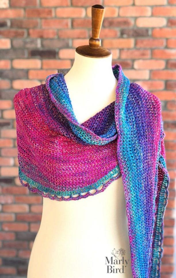 Rainbow Sprinkles Crescent Shawl-shawl-jpg