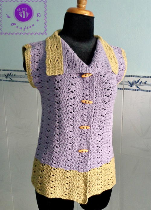 Vintage Collar Vest Free Crochet Pattern (English)-vintage-collar-vest-free-crochet-pattern-jpg