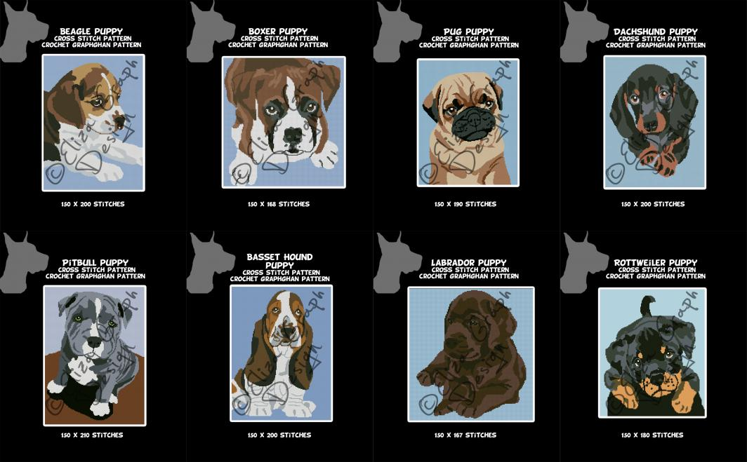 Puppies Beagle, Boxer, Basset Hound, Dachshund, Labrador, Pitbull, Pug, Rottweiler-untitled-14-jpg