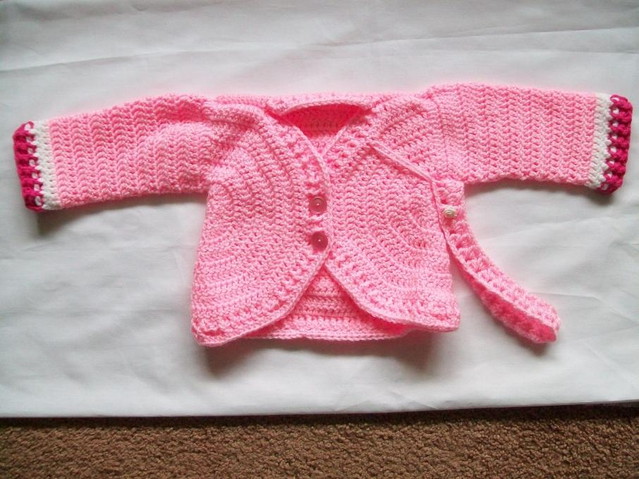 girl's cardigan done and a picture of both the boy's and the girl's cardigan-004-jpg