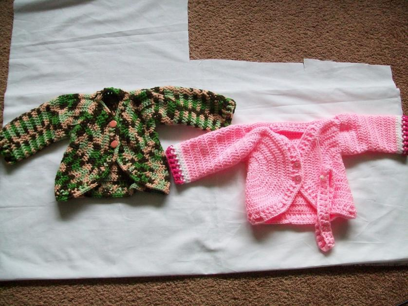 girl's cardigan done and a picture of both the boy's and the girl's cardigan-007-jpg