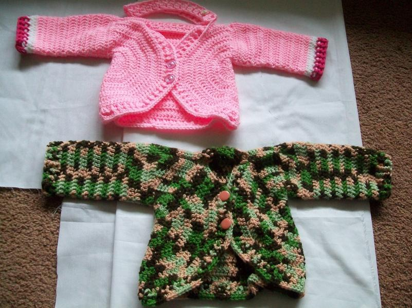 girl's cardigan done and a picture of both the boy's and the girl's cardigan-008-jpg
