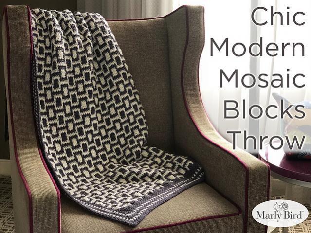 Chic Modern Mosaic Blocks Throw-throw1-jpg