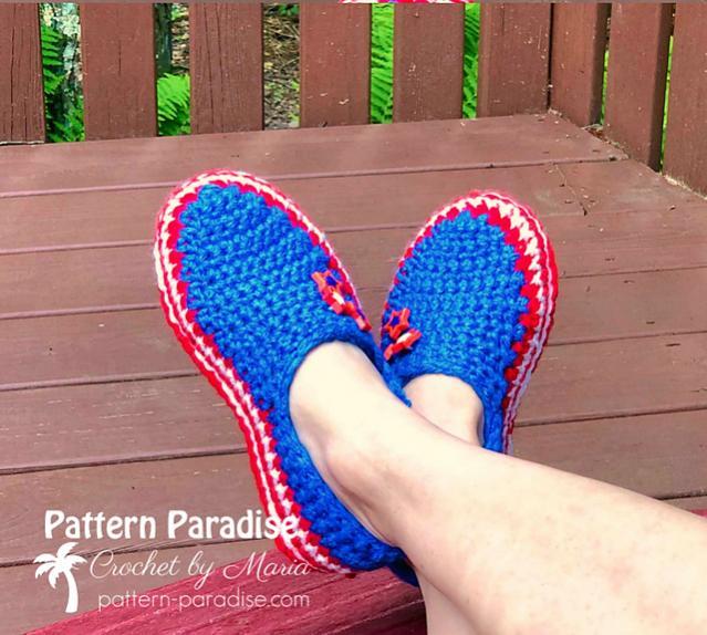 Stars and Stripes Slippers for Women, 4-12, Men, 6-16-star1-jpg