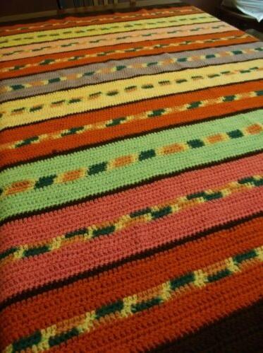 """SILLY STRIPES""  A fun afghan throw.  www.GrannyBlankets.com-handmade-striped-afghan-blanket-sale-jpg"
