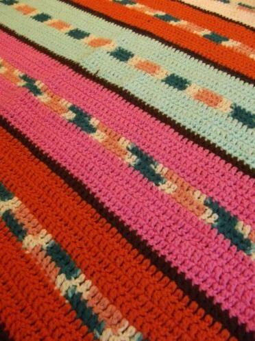 """""""SILLY STRIPES""""  A fun afghan throw.  www.GrannyBlankets.com-handmade-striped-afghan-blanket-jpg"""