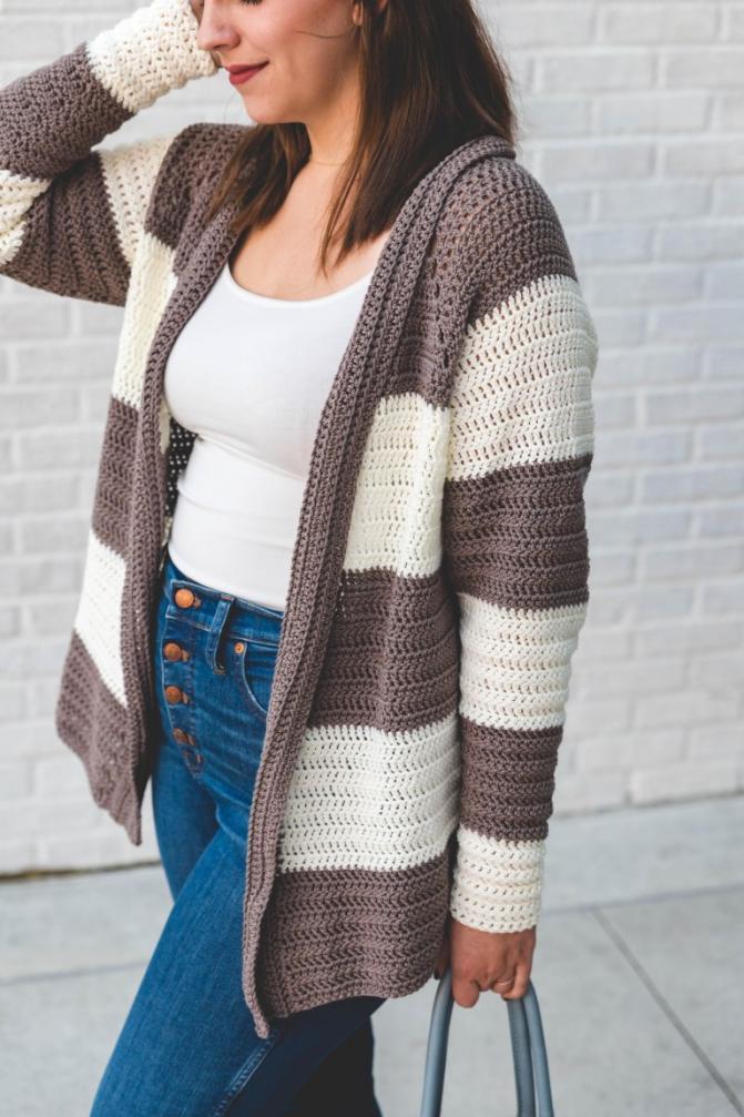 Slouchy Stripe Cardigan for Women, XS-3XL-cardi-jpg