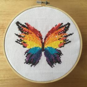 Still Hangin' in There-butterfly-cross-stitch-jpg