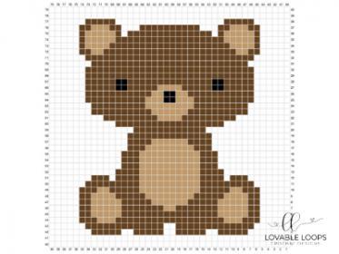 Five Animal C2C Baby Blankets-baby3-jpg