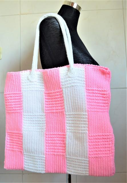 Stripe Block Tote Bag-bag-jpg