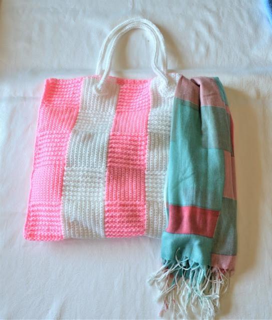 Stripe Block Tote Bag-bag1-jpg