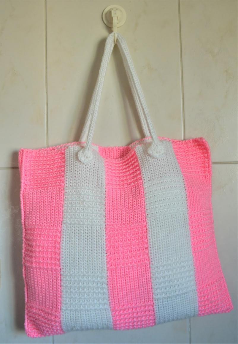 Stripe Block Tote Bag-bag3-jpg