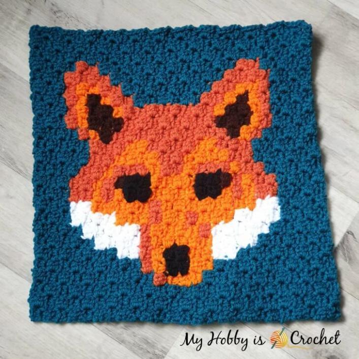 Another Wildlife C2C Square, Lava Fox-fox-jpg