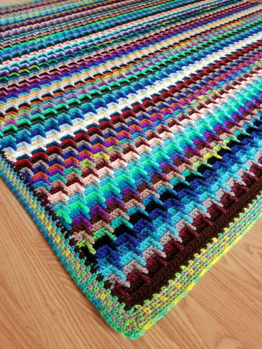 Scrap Yarn Stash-Buster Blanket-yarn-jpg