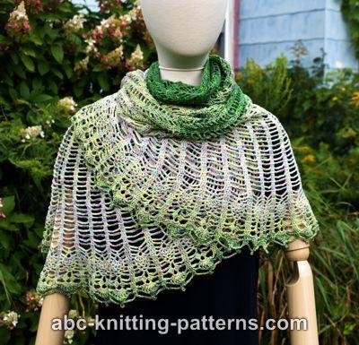 Semi-Circular Shawl with Pineapple Border-shawl1-jpg