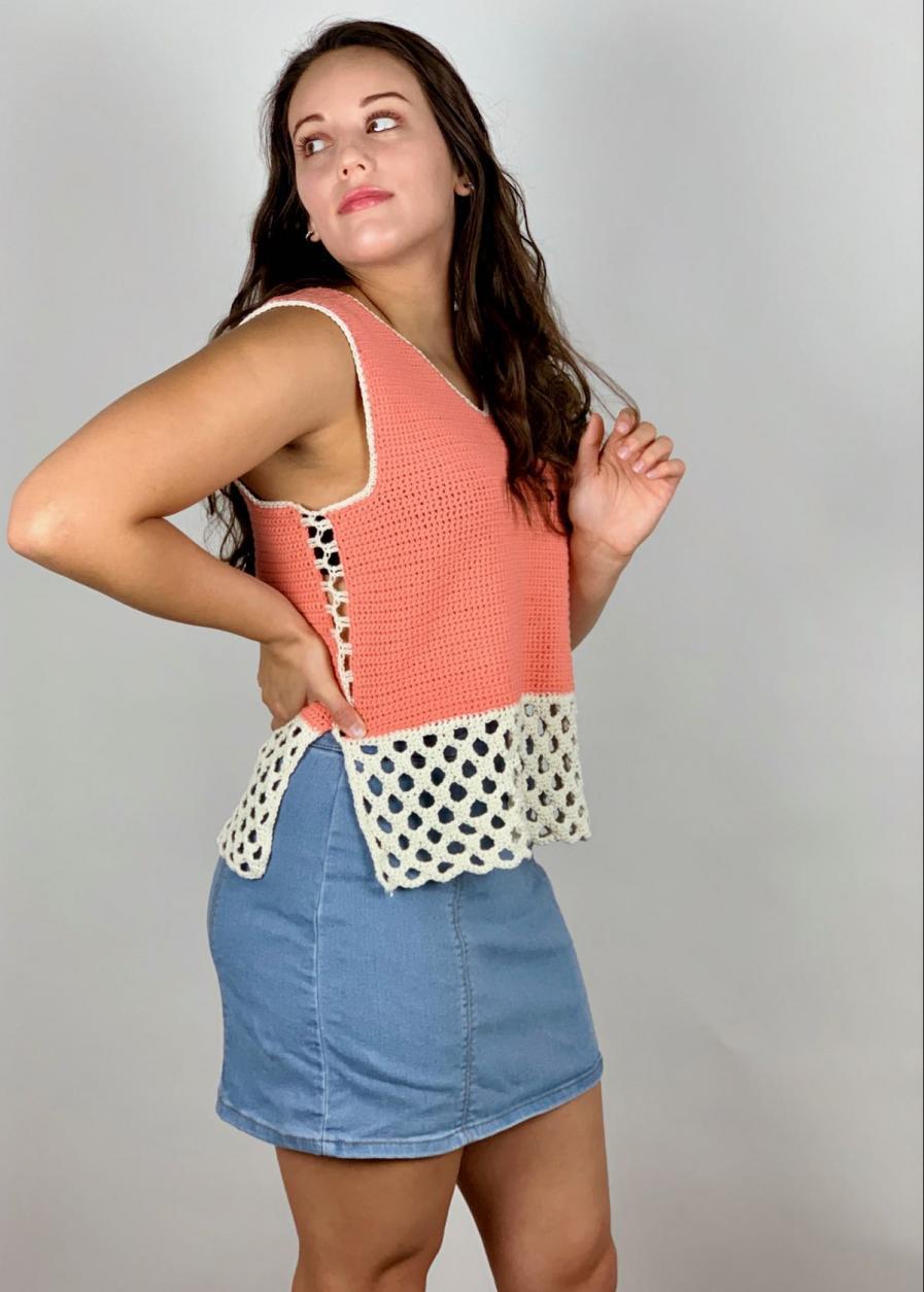 Honeycomb Stitch Summer Tank for Women, XS-2X-tank-jpg