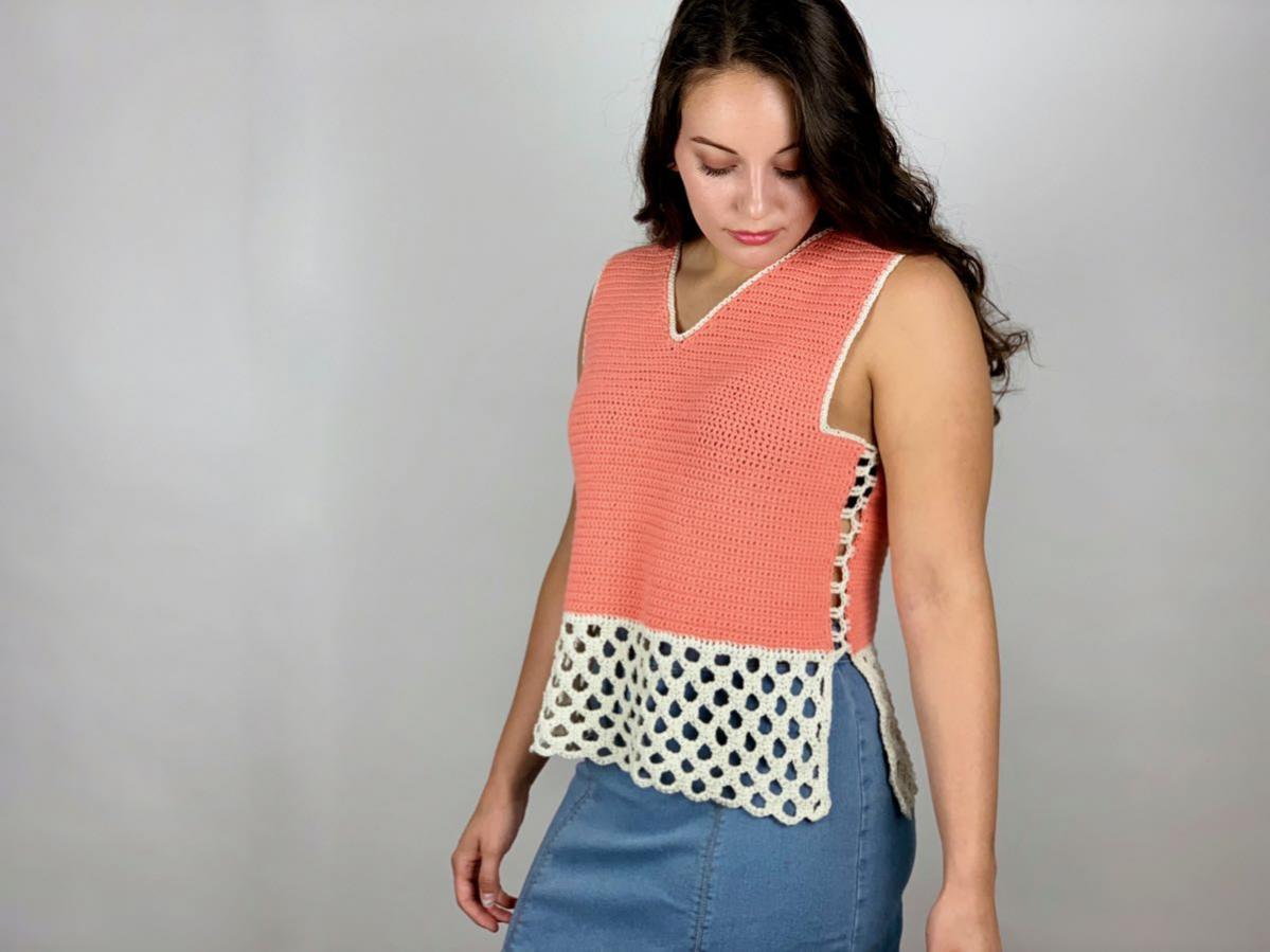 Honeycomb Stitch Summer Tank for Women, XS-2X-tank2-jpg