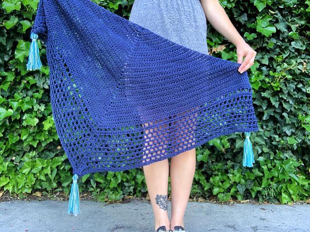 Portside Triangle Scarf for Women-scarf-jpg