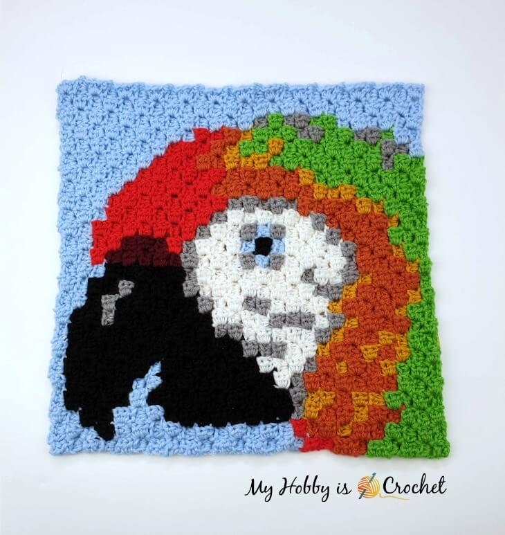 Another Wildlife C2C Square, Macaw/Parrot-macaw-parrot-c2c-square-jpg